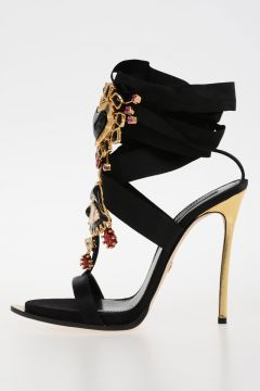 12cm Satin Jewel Sandals