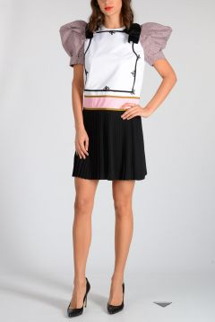Dress With Plisse Skirt