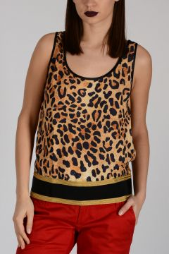 Leo Printed Sleeveless Top