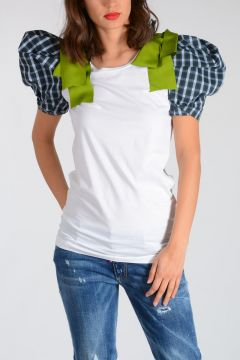 Jersey Cotton T-shirt With Green