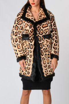 Leo Printed Real Fur Jacket