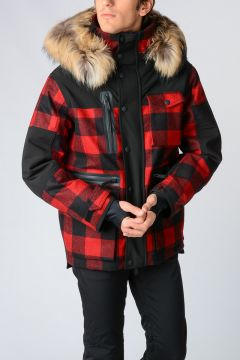 Wool Jacket SKI with Real Fur