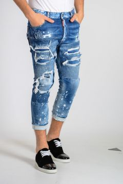 16 cm Stretch Cotton Denim GLAM HEAD Jeans