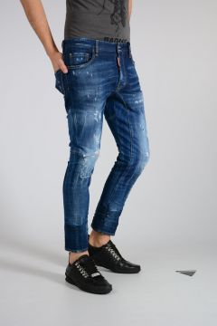 Jeans TIDY BIKER in Denim Stretch 17cm