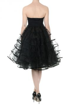 Tulle Flounced Dress