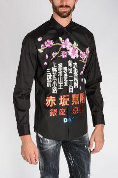 Stretch Cotton TOKYO METRO FLOWER Shirt