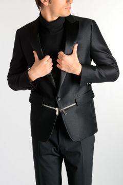 Wool & Silk Tuxedo Blazer