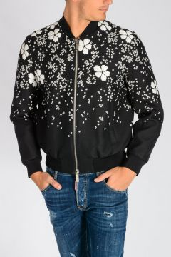 Embroidered CHERRY BLOSSOM Bomber Jacket