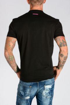 T-shirt in Jersey di Cotone con Stampa PUNK