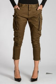 Pantaloni Cargo in Cotone Stretch