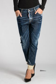 Stretch Denim COOL GIRL CROPPED Jeans 15 cm