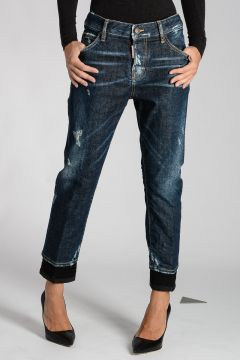 Stretch Denim COOL GIRL CROPPED Jeans 16 cm