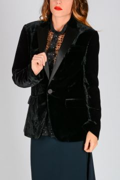 Velvet Smoking Blazer
