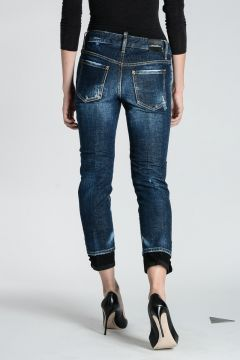 Stretch Denim MEDIUM WAIST  Jeans 15 cm