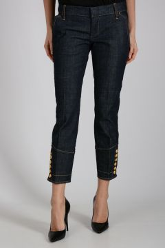 17cm Capri Jeans with Golden Bottons