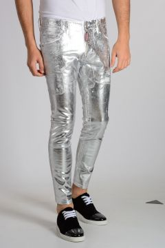 SKATER Stretch Cotton Silver Tone Jeans
