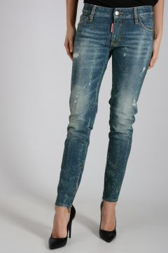 12cm Glitter Denim MEDIUM WAIST SKINNY Jeans