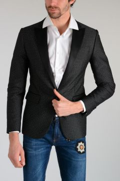 Glitter Smoking Blazer