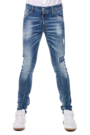 Stretch Denim Jeans 16 cm