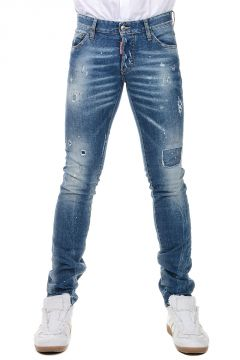 16 cm Stretch Cotton Jeans