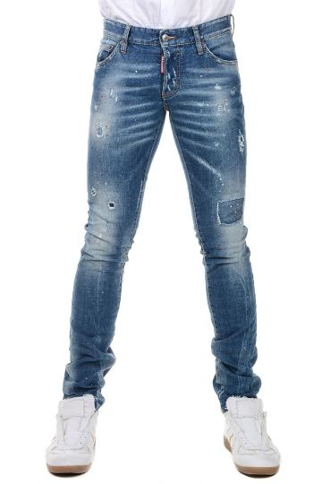 Stretch Cotton Jeans 16 cm