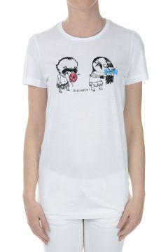 T-shirt in Jersey con Applicazioni