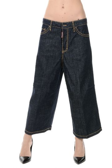 Jeans Culotte CAPTAIN in Denim stretch 30 cm