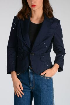 Cotton Single Breasted Blazer