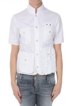 Camicia in Cotone Stretch a Maniche Corte