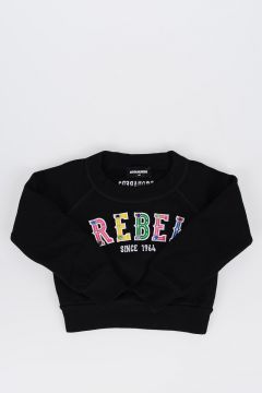 Embroidered Details Cotton Sweatshirt