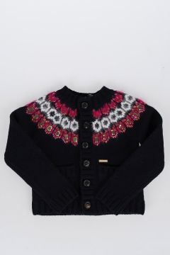 Wool Round Neck Cardigan