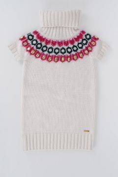 Wool Dress With Short Sleeves