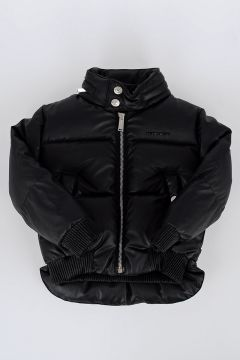 Faux Leather Down Padded Jacket