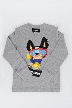 T-shirt a Manica Lunga Stampata