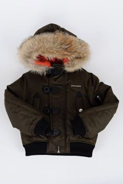 Down Padded Jacket with REal Coyote Fur