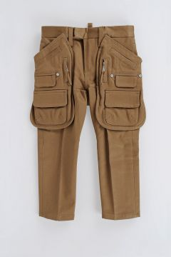 Stretch Cotton Cargo Pants