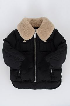 Down Padded Jacket with Real fur Collar