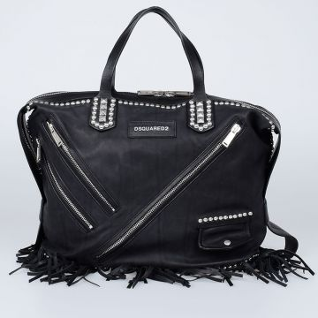 CHIODO Leather Fringed Shopping Bag