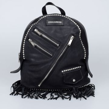 CHIODO Fringed Leather Backpack