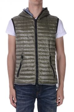 Reversible Hooded ESACODUE ERRE Sleeveless Down-Jacket