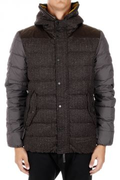 ORTRO Down Jacket with Leather Details