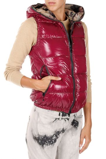 Hooded reversible FEBE - ERRE down Gilet