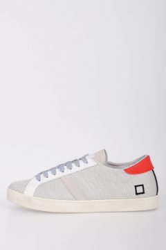 Leather and Woven Low Sneakers