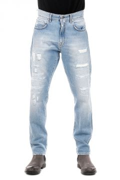 Embroidered Denim Jeans 15 cm