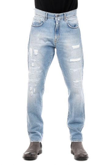 Jeans Embroidered Denim 15 cm