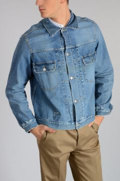 Giubbotto LOUIS in Denim Distressed