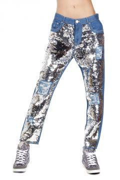 16 cm AMALIA HIGH BOYFRIEND Jeans with Sequins