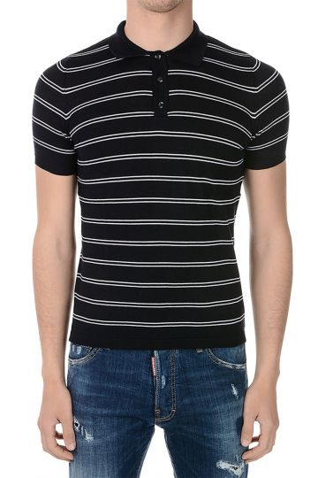 Cotton Polo Striped print