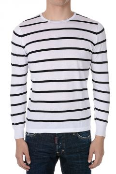 Cotton Striped Sweatshirt