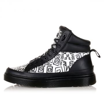 Leather and Fabric KENDRICK Ankle Botos